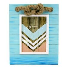 Concepts in Time Nautical Picture Photo Sailer Knot Jute Rope Turquoise Blue 5x7