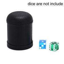 7.5cm x 10cm ktv pub party game toy plastic dice cup black shaking cup box  R