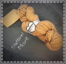 200g Super Chunky Real Welsh Handspun Wool Tan Brown Supersoft Knitting Yarn