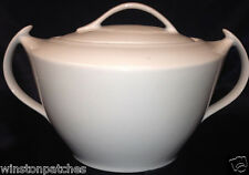 CMIELOW POLAND ALL WHITE OVAL COVERED VEGETABLE BOWL & LID 96 OZ