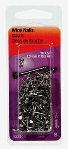 "Hillman WIRE NAILS 5/8"" Brite Steel 18 Ga. Easy Install Masonry Trim 122544 NEW!"