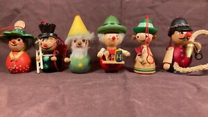 Vintage Steinbach Wooden Handmade Christmas Ornament Lot Germany