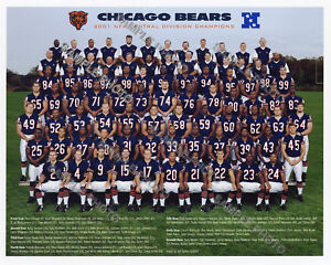 2001 Chicago Bears NFC Central Division Champions 8x10 Team Photo