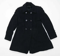 Jane Norman Womens Size 10 Wool Blend Black Trench Coat