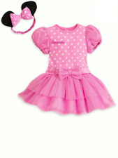 NEW Disney Store Baby Minnie Mouse Pink Costume Dress Bodysuit & Ears 9-12M NWT