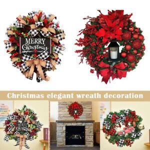 25cm Christmas Tree Wreath Door Hanging Garland Window Wall Ornament Xmas Decor