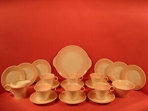 SHELLEY 21 PIECE TEA SET REGENT SHAPE CUPS, PINK PATTERN 12832 OR 12872