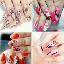 Summer Colorful Designs Water Transfer Flower Nail Art Tips Sticker Gift 40pcs