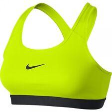 Nike Damen Frauen Trainings Fitness Sport BH Classic Pro Bra Dri Fit Gelb NEU
