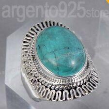 ANELLO OVALE SPIRAL con TURCHESE argento 925 af