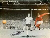 Signed Geoff Hurst England 1966 World Cup Final Autograph Goal Photo