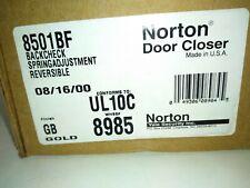 Norton 850BF Door Closer Conforms UL10C WHSE# 8985 Gold Finish NEW NOS