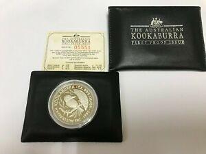 1990 Australian Kookaburra 1oz silver FIRST PROOF ISSUE  $5 coin #05551