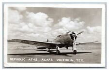 WORLD WAR II AVIATION VICTORIA TEXAS AT-12 P35 1942 DONALD LALLEMAND, GRUBER, OK