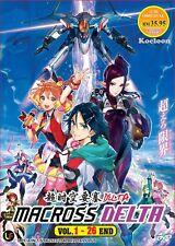 DVD Japan Anime MACROSS DELTA Complete Series (Vol. 1-26 End) English Subtitle