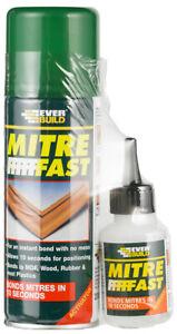 Everbuild Mitre Fast Bonding Standard Adhesive Kit (50g Glue & 200ml Activator)