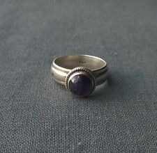 SOLID 925 STERLING SILVER DOME AMETHYST RING SIZE P  INDIA MADE