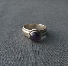 Solido 925 Argento Sterling cupola anello di ametista Taglia P India MADE