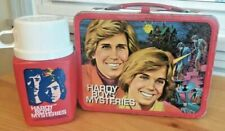 Vintage 1977 Hardy Boys Metal Lunchbox and Thermos. Free Shipping!