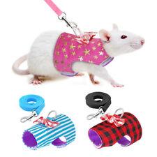 Small Animal Harness Leash set Soft Padded Squirrel Ferret Hamster Rabbit Vest