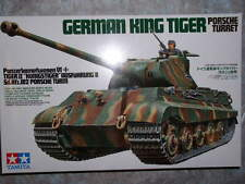 Tamiya 1/35 German King Tiger Porsche Turret Model Tank Kit #35169