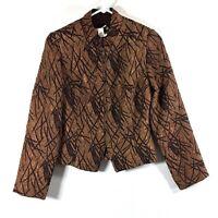 Joseph Ribkoff Womens Size 8 Jacket Brown Metallic Zip Up Dress Style 42776