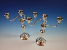 Continental by International Sterling Silver Candelabra Pair 3-Light (#2325)