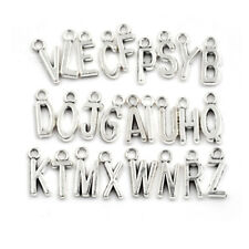 26Pcs/set Latin English Alphabet Letter Charm Pendant Jewelry Bracelet Craft HI