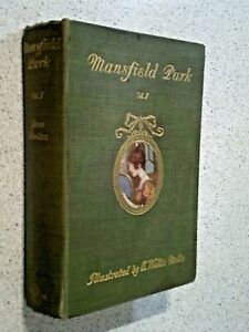RARE JANE AUSTEN-- MANSFIELD PARK--1909--COLOUR ILLUSTRATED--HARDBACK