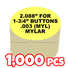 "1-3/4"" Tecre Mylars Clear Plastic Cover for Button Maker Machine Press 1000 pcs"