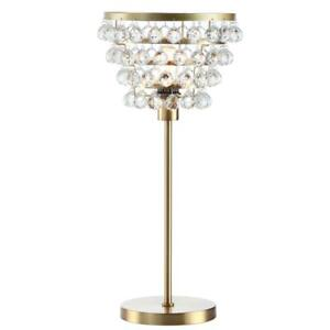 Buckingham 25 in. Brass Gold/Clear Crystal/Metal Table Lamp by JONATHAN Y