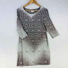 Witchery Long Sleeve Dress Size Medium (12) Animal Print Patterned Zip Winter