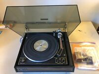 Garrard Synchro-Lab 95B Turntable with Accessories Shure M75E Tested Read Descr*
