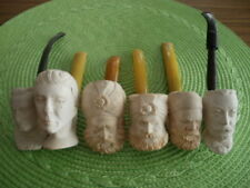 Lot of 6 Meerschaum & Clay Tobacco Pipes