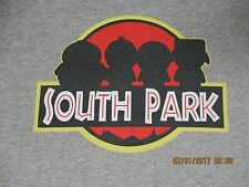 NWT - SOUTH PARK / JURASSIC PARK SPOOF - MEDIUM SLIM FIT GRAY T-SHIRT H334