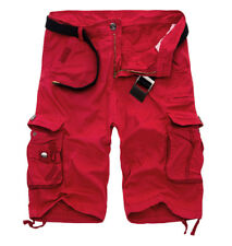 HOMME SHORT CARGO ROUGE MULTI-POCHES COTON TAILLE M
