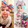 Baby Toddler Kids Girls Large Bow Headband Hair Band Headwear Head Wrap Cotton