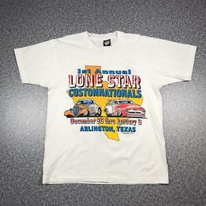 90s Vintage LONE STAR TEXAS CARS T Shirt Large Single Stitch 50/50 Screen Stars