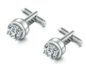 Earrings Crystal Platinum Plated White Gold High Quality Zirconia CZ Crystal
