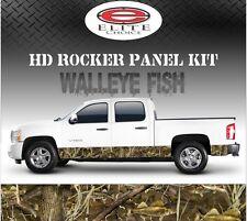 "Walleye Fish Camo Rocker Panel Graphic Decal Wrap Truck SUV - 12"" x 24FT"