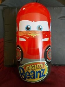 Mighty Beanz Disney Cars Lightning McQueen Tin Case With 15 Cars Mighty Beanz!
