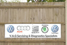 Volkswagen Audi Servicing Diagnostics Banner Workshop VAG Group LARGE 2M X 500mm
