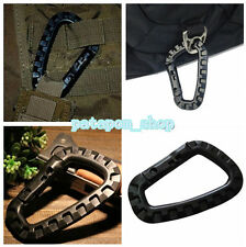 D-Ring Strong Carabiner Hook Snap Outdoor Tactical Tool Keychain Backpack Black