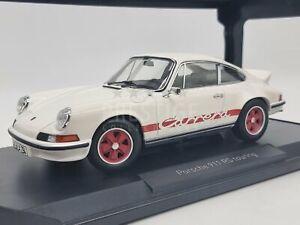 *Read* Norev 1973 Porsche 911 Carrera 2.7 RS White / Red 1:18 Scale - New