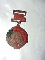 VINTAGE 1950 CHINESE ENAMEL ON COPPER MEDAL SOLDIER