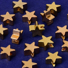 3*7.5MM Brass Spacer Beads Star Metal Spacers Beads for personalization 20pcs