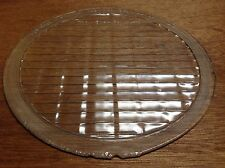 "Vintage Clear Glass SUN-RAY 9-3/4"" HEAD LAMP light lens AnTiQuE rare old 1920's"