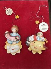 "Vintage 3� Anri Ornaments Toriart Ferrandie ""Concertina� & Happy� Mint"