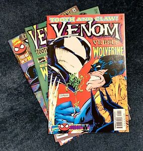 VENOM TOOTH AND CLAW #1-3 COMPLETE MARVEL COMIC MINI-SERIES WOLVERINE SPIDER-MAN