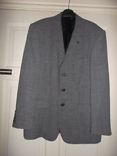 BROOK TAVERNER Pure New Wool Mens Tailoring Blazer Wedding Check Jacket 40 NEW